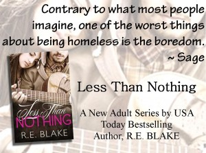 LESS THAN NOTHING, by R. E. Blake